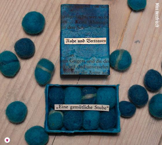 Miss Herzfrischs Matchbox Adventskalender Challenge Nr. 1 Die Blaue