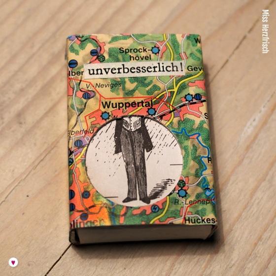 Miss Herzfrischs Matchbox Adventskalender Challenge Nr. 7 Wuppertal Schachtel