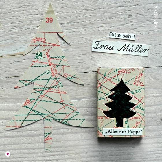 Miss Herzfrischs Matchbox Adventskalender Challenge Nr. 9 Winterwaldmuster
