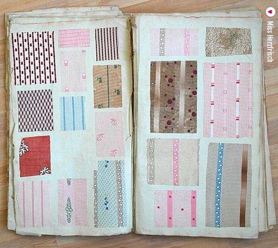 Miss Herzfrischs Mittwochsmuster Stoffstreifen Musterbuch