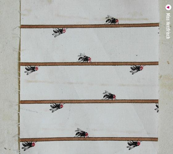 Miss Herzfrischs Mittwochsmuster Stoffstreifen Muster Fliegen