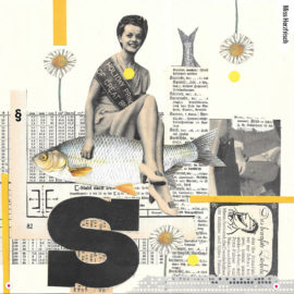 Miss Herzfrischs Originalcollage Smile