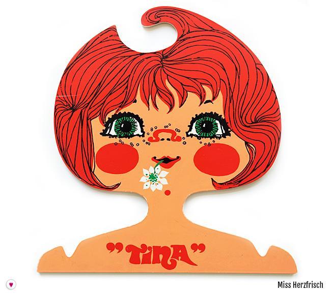 Miss Herzfrisch 70er Jahre Retrokleiderbügel Tina