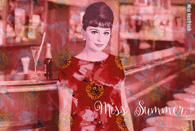 Miss Herzfrischs Rosenmuster in Rot