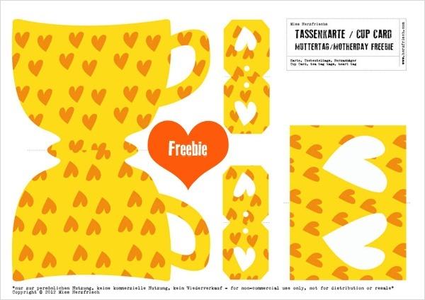 Miss Herzfrischs Freebie DIY: Muttertag Herztassen Freebie