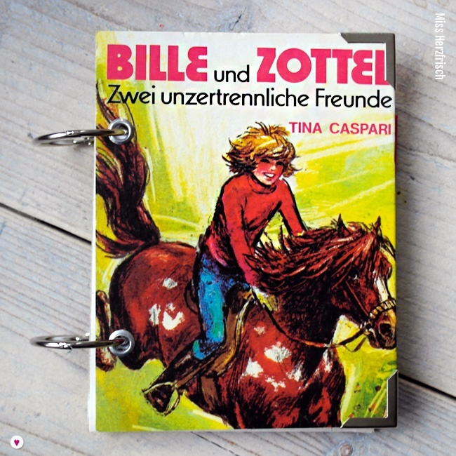 Miss Herzfrischs Retro Notizbuch Bille und Zottel von Tina Caspari