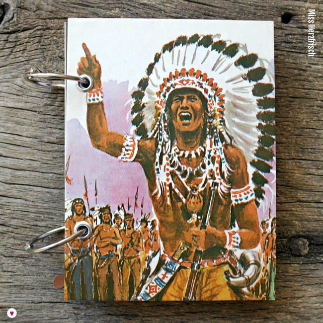 Miss Herzfrischs Retro Notizbuch Der letzte Mohikaner von J. F. Cooper