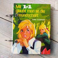 Miss Herzfrischs Retro Notizbuch Mit 14 glaubt man an die Freundschaft