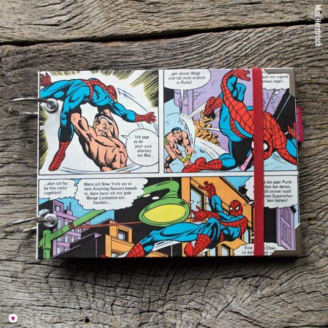 Miss Herzfrischs Spiderman Vergissmeinnicht Notizbuch