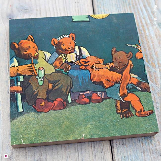 Miss Herzfrischs Vergissmeinnicht Tanzstunde Collage aus dem Kinderbuch Familie Mutz von 1947