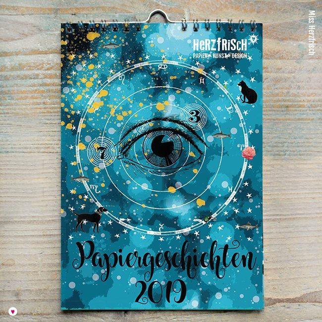 Miss Herzfrischs Papiergeschichten Kalender 2019