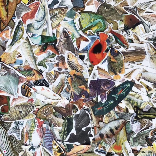 Miss Herzfrischs Vintage Collage Pack * Fische